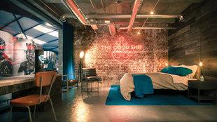 Imagen de las instalaciones del primer hotel cervecero del mundo, que...