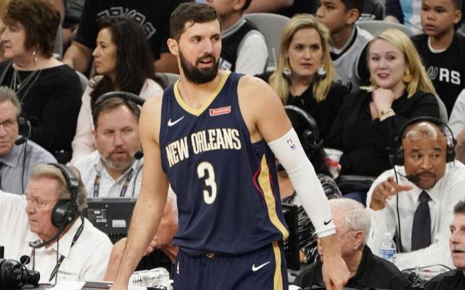 El jugador español de los New Orleans Nikola Mirotic.