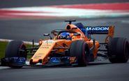 Fernando Alonso a los mandos de su McLaren.