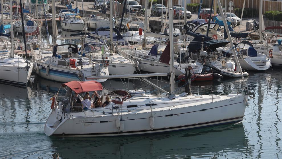 Barcos, en el Puerto Olimpico de Barcelona.