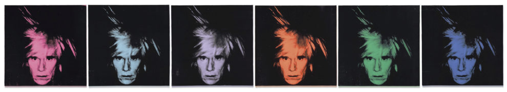 Andy Warhol (1928-1987) Six Self Portraits (56 x 56cm.).