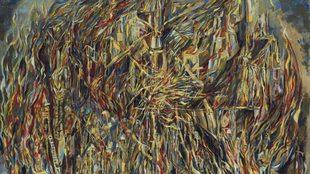 Vieira Da Silva (1908 - 1992) L'incendie I (The Fire I) 81 x...