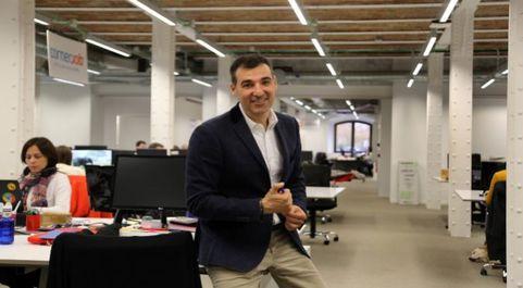 Miguel Vicente posa en el espacio que Antai Venture Builder, de la que...