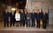 De izqda. a dcha., Alberto Ruiz Gallardón, exministro de Justicia;...