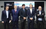 De izqda. a dcha., José Angel Sandín,  Juan Pujol., Manuel Pimentel,...