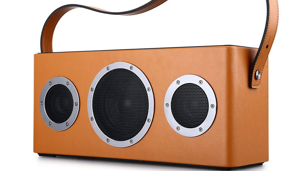 Altavoz vintage disponible en Amazon