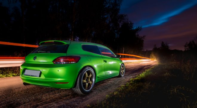 Imagen del VW Scirocco.