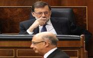 El ministro de Hacienda y Función Pública, Cristóbal Montoro, pasa...