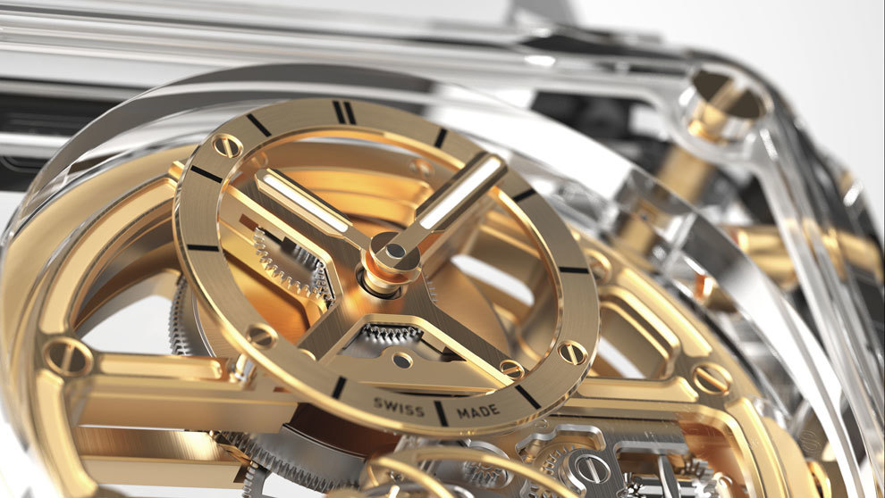 Detalle del diseño visto del modelo de Bell & Ross, BR-X1...