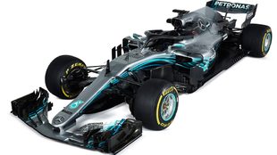 Mercedes F1 W09. Lewis Hamilton.