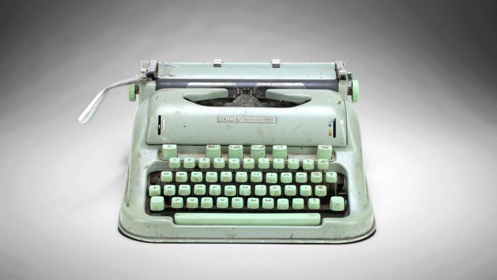 máquina de escribir Sylvia Platch