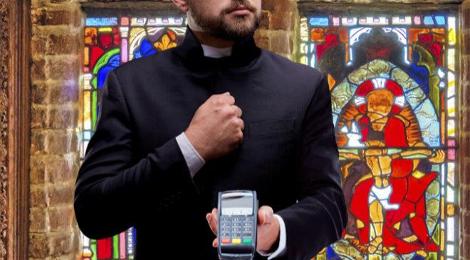 La iglesia anglicana quiere que los feligreses aporten algo en misa,...