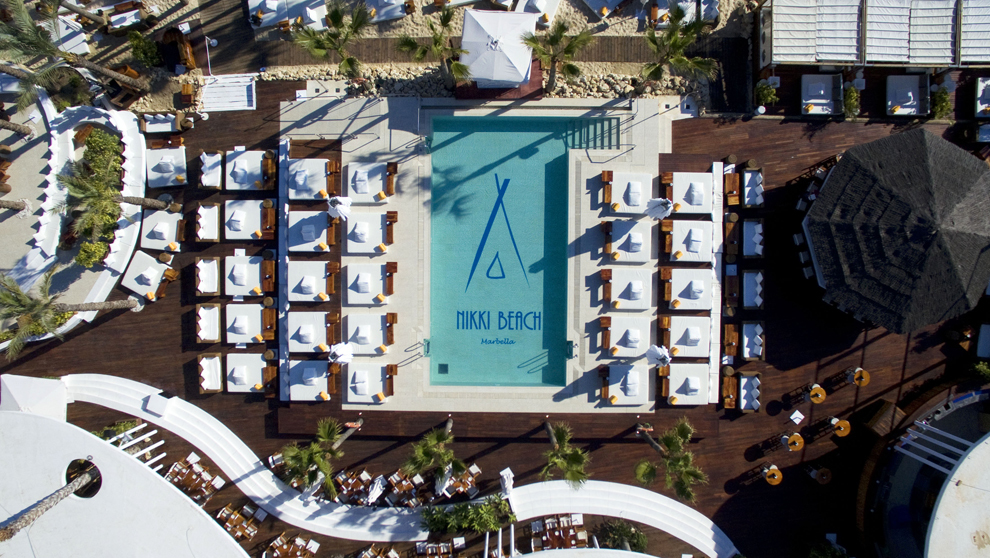 Nikki Beach Marbella, day club.