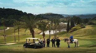 De izqda. a dcha., Carlos Rodiles, codirector de golf; Mónica Manser,...
