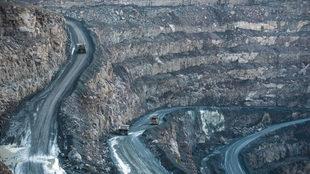 Imagen de una mina de Lesoto, donde se ha encontrado el sexto diamante...