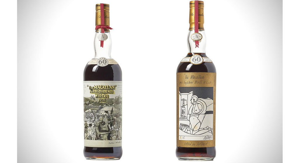 Las dos botellas de whisky The Macallan que saldrán a subasta y...