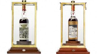 Las botellas están decoradas en homenaje al artista Peter Blake.