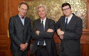 De izqda. a dcha., los socios de Grupo Gispert Sönke Lund, Juan...
