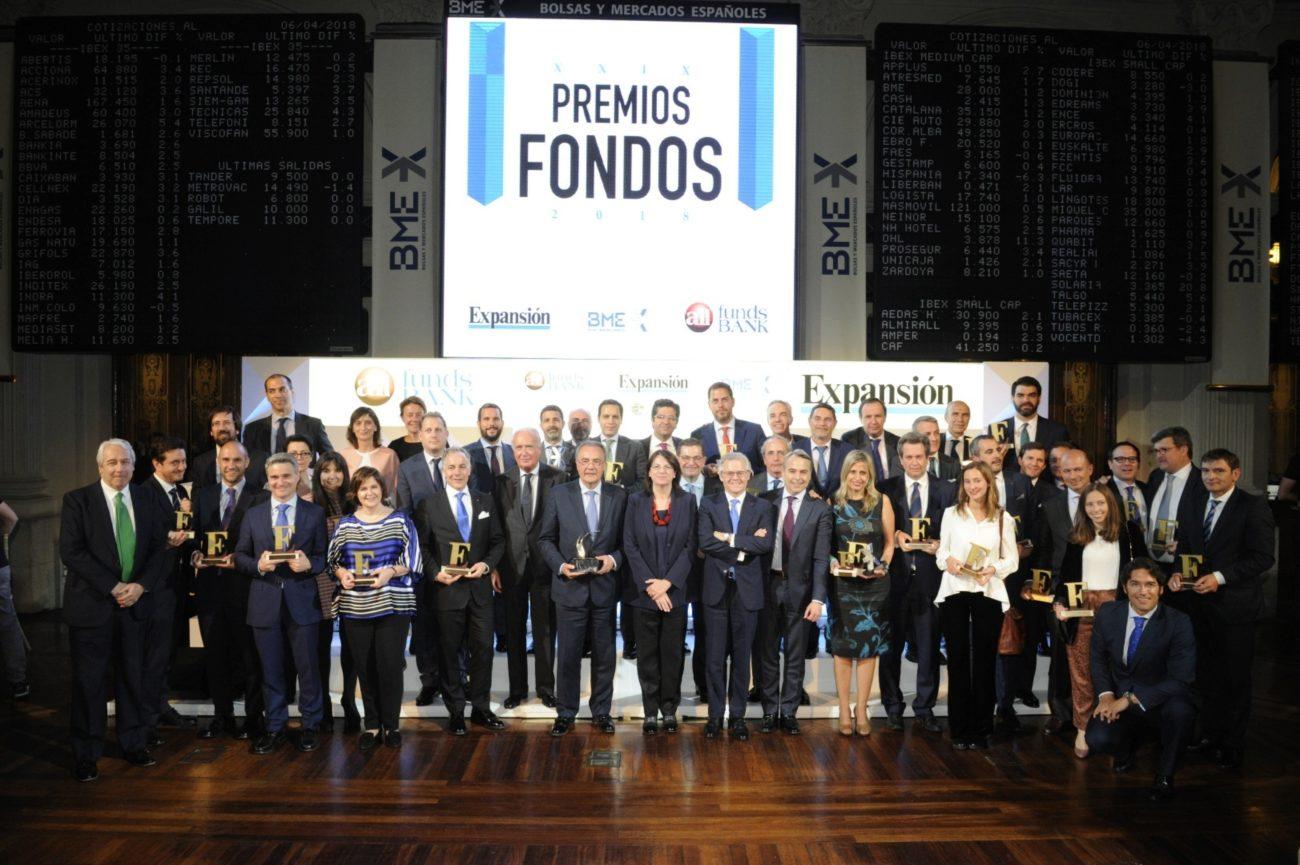 Foto de familia de los galardonados en la XXIX edición de los Premios...
