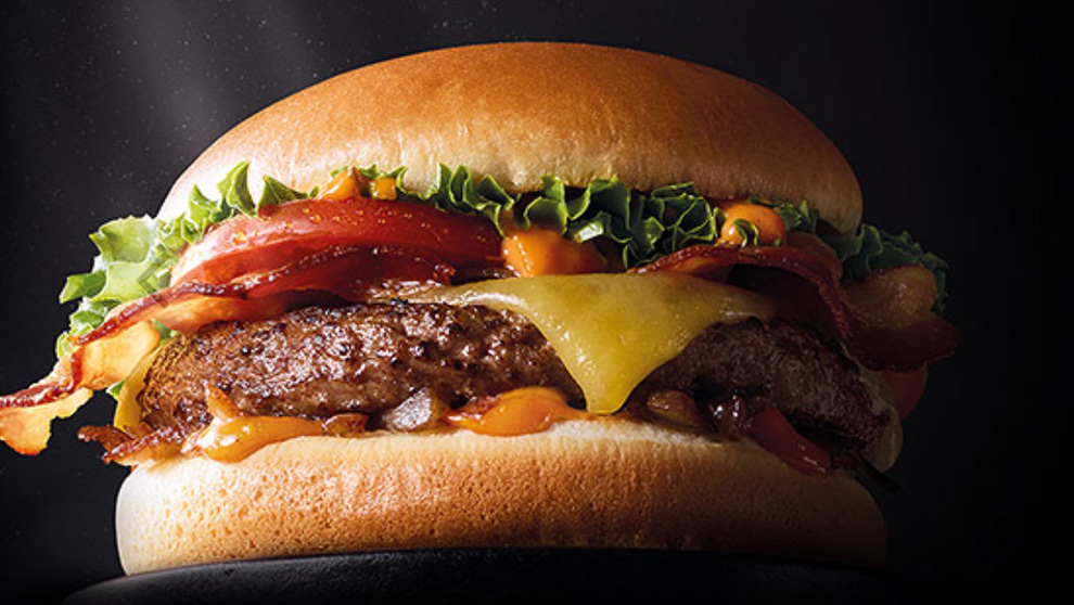 Nueva hamburguesa premium con carne Wagyu de McDonald's...