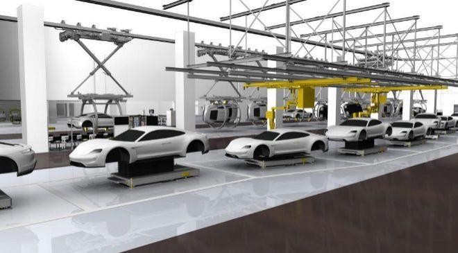 Los nuevos Porsche 100% eléctricos  se fabricarán  'a...