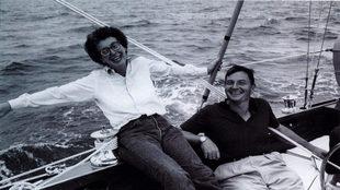 """Peggy y David, en Maine, en el """"Jack Tar"""", el barco..."""