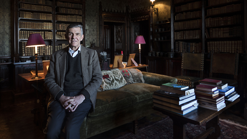Giacomo Cattaneo Adorno, marqués de Gabiano, 65 años, posa de...