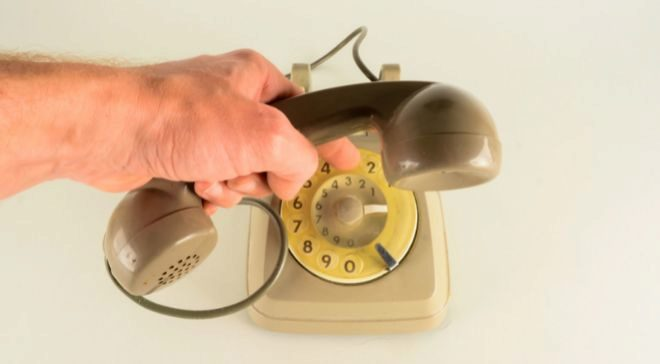 Teléfono analógico.