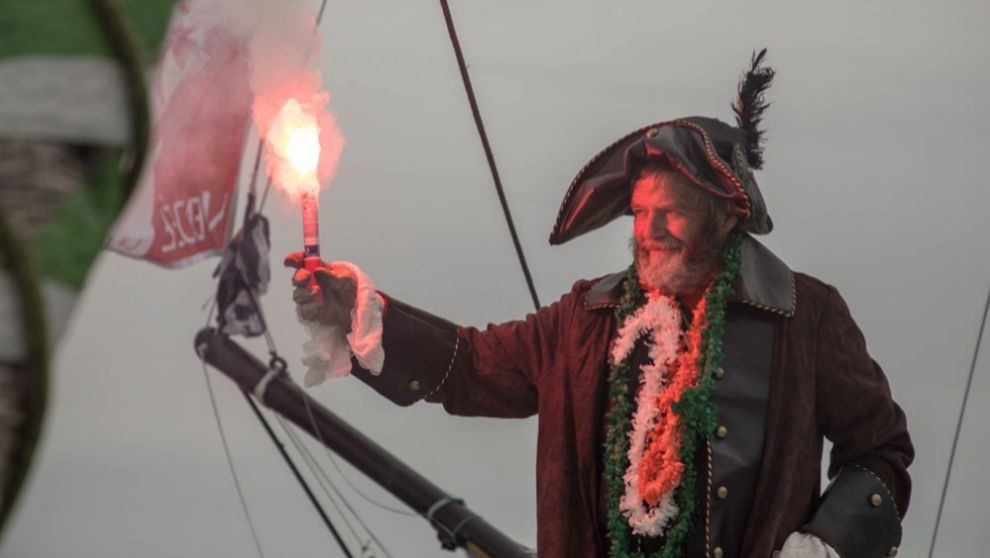 O'Coineen, a su llegada al puerto de Les Sables d'Olonne.