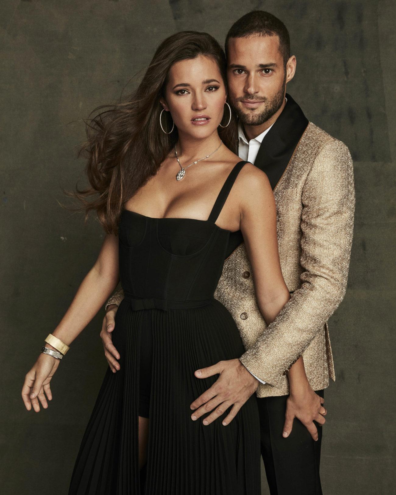 Malena. Mono, 1.700 euros, y falda, 3.500 euros, de Dior. Collar, de...