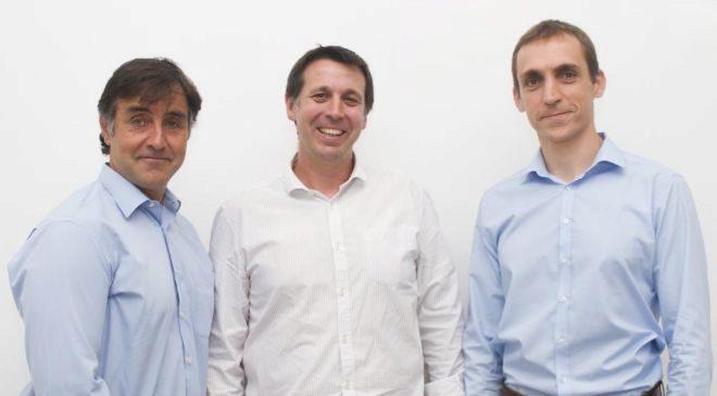 Francisco Aréchaga, Ricard Forn y Alejandro Cabanillas, de Socialpay.