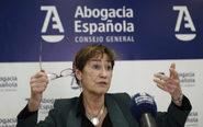 La presidenta del Consejo General de la Abogacía Española, Victoria...