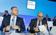 El consejero delegado de Abertis, José Aljaro y su presidente,...