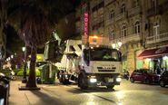 Camión de recogida de basuras en FCC.