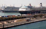 Cruceros en el puerto de Valencia.