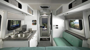Interior, cocina, de Airstream Nest.