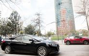 Un coche de Uber en Barcelona