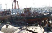 Instalaciones de Boluda en los antiguos astilleros de Unión Naval.