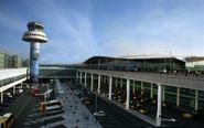 Torre de control en el aeropuerto de Barcelona-El Prat
