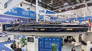 El modelo C45 de Bavaria Yachts, durante su exposición en la pasado...