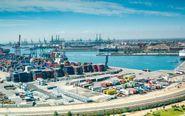 Una vista del puerto de Valencia.