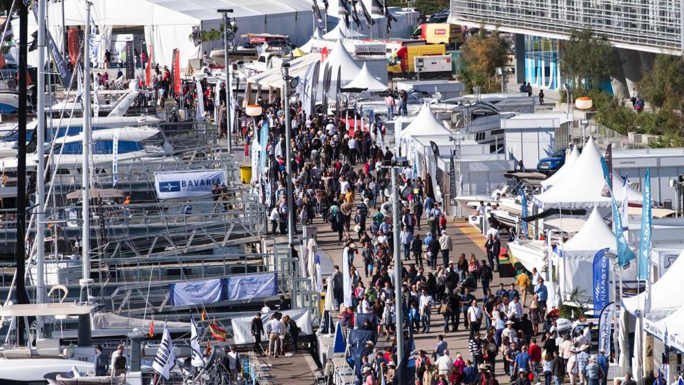 Vista general de la celebración del pasado Valencia Boat Show 2017 en...