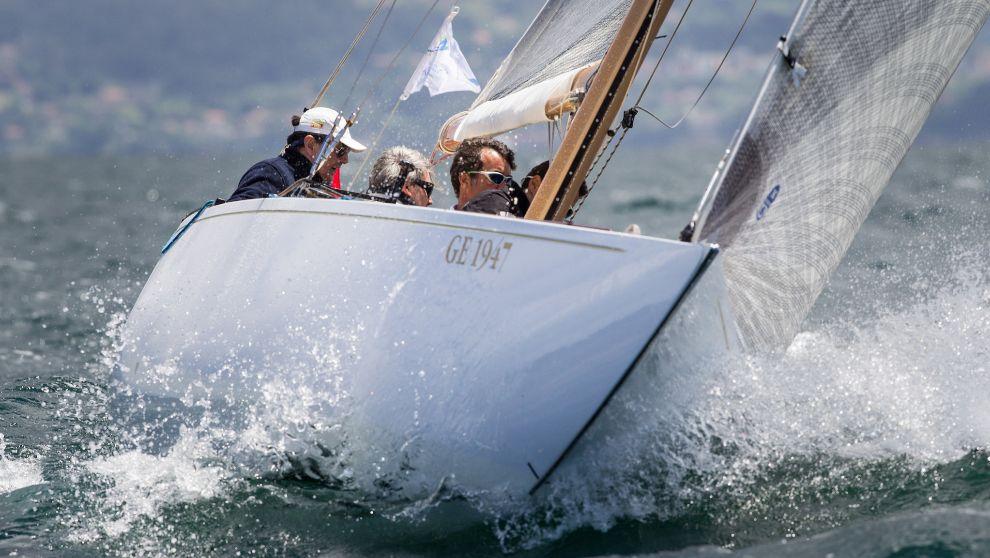 El velero Gallant, ganador de la Copa del Mundo de la clase 6 metros...