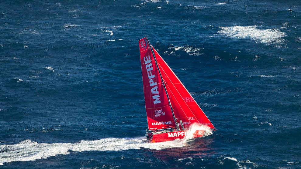La embarcación Mapfre disputando una de las etapas de la Volvo Ocean...