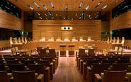 Sala de vistas del Tribunal de Justicia de la Unión Europea.
