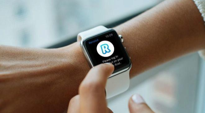 La app de Revolut en un smartwatch.