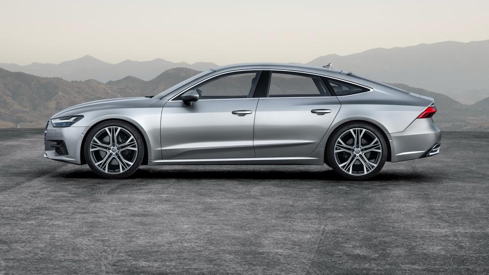 Audi A7, vista del nuevo modelo del fabricante alemán en la que se...
