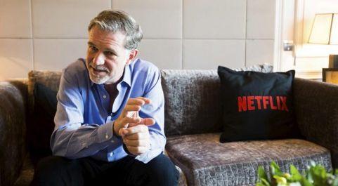 Reed Hastings, consejero delegado de Netflix, durante el lanzamiento...