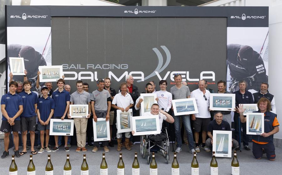 Todos los campeones de la edición 2018 Sail Racing PalmaVela, durante...