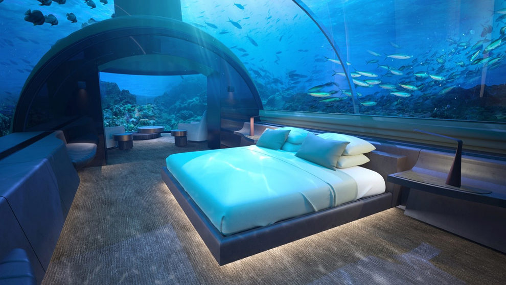 Muraka,  la primera suite de hotel submarina del mundo.